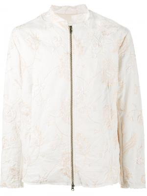 Куртка Jacob с вышивкой By Walid. Цвет: телесный