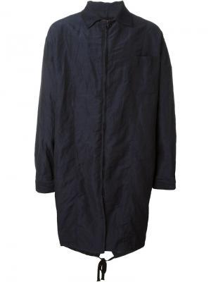Пальто Cristoforo Uma Wang. Цвет: синий