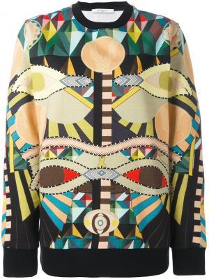 Толстовка Crazy Cleopatra Givenchy. Цвет: многоцветный