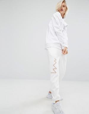 KKXX Спортивные штаны со ступенчатыми кромками. Цвет: кремовый