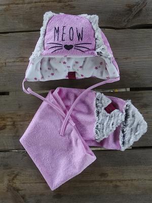 Комплект шапка и  шарф DEMBOHOUSE. Цвет: розовый