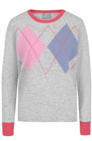 Кашемировый пуловер с круглым вырезом FTC. Цвет: серый