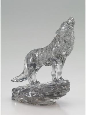 Головоломка 3D Черный Волк Crystal puzzle. Цвет: черный, белый, желтый