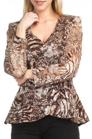 Блуза Georgede. Цвет: brown
