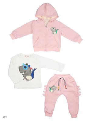Толстовка, джемпер и брюки HLT. Цвет: розовый