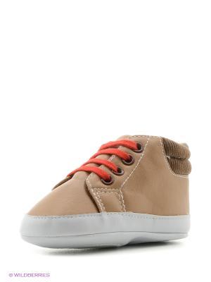 Пинетки Высокие ботиночки, 1 пара Luvable Friends. Цвет: коричневый