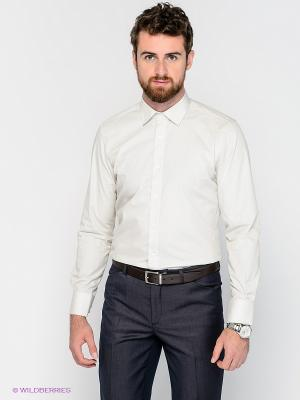 Рубашка MONDIGO. Цвет: кремовый