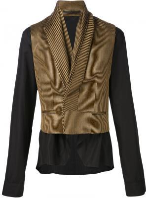 Пиджак с контрастными панелями Haider Ackermann. Цвет: чёрный
