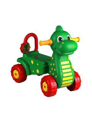 Каталка детская Дракон (зел.) Альтернатива. Цвет: зеленый, красный, желтый