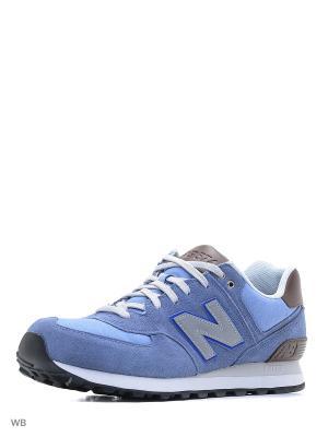 Кроссовки NEW BALANCE 574 CRUISIN. Цвет: голубой