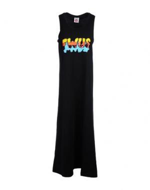 Длинное платье FOLLOW US. Цвет: черный