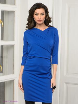 Платье DRS Deerose. Цвет: синий