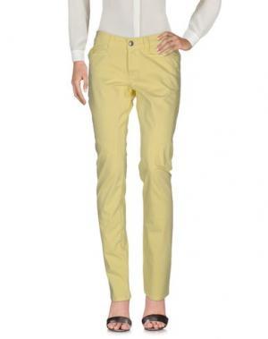 Повседневные брюки 9.2 BY CARLO CHIONNA. Цвет: желтый