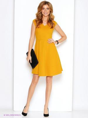 Платье adL. Цвет: горчичный