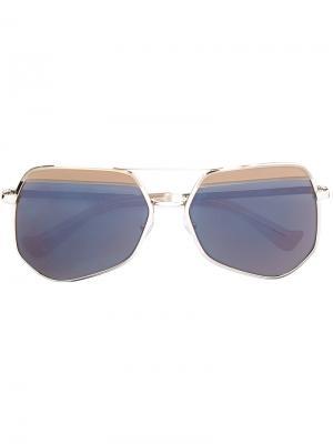 Солнцезащитные очки в квадратной оправе Grey Ant. Цвет: телесный