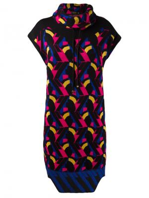 Geometric knit dress Gig. Цвет: чёрный