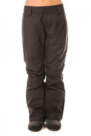 Штаны сноубордические женские  Madison Pant Jet Black Oakley. Цвет: черный