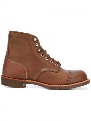 Сапоги со шнуровкой Red Wing Shoes. Цвет: коричневый