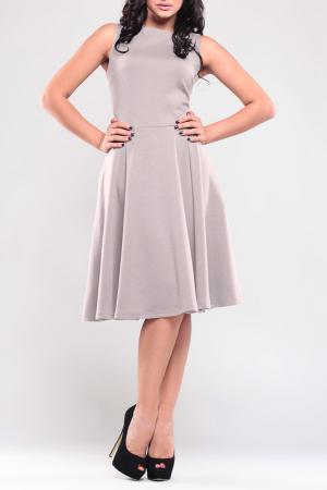 Романтичное платье без рукавов Laura Bettini. Цвет: бежевый