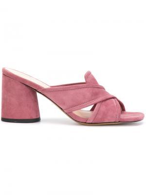 Мюли с перекрещивающимся дизайном Marc Jacobs. Цвет: розовый и фиолетовый