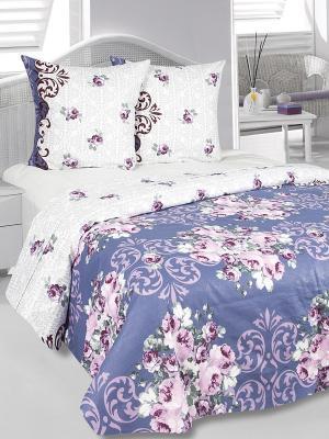 Комплект постельного белья Идиллия Тет-а-Тет. Цвет: синий, белый