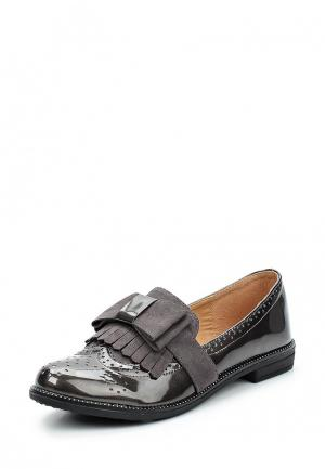 Лоферы WS Shoes. Цвет: серый