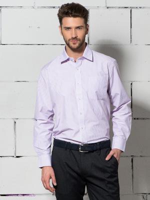 Рубашка Maestro. Цвет: сиреневый, белый