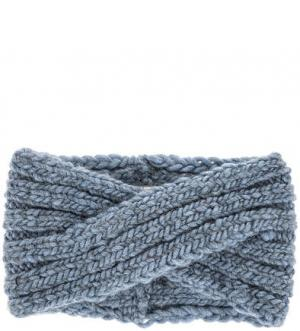 Синяя вязаная повязка Noryalli. Цвет: синий