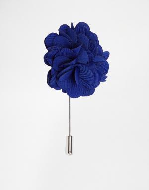 Red Eleven Булавка на лацкан пиджака цветок. Цвет: синий