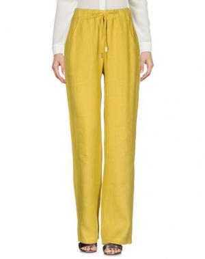 Повседневные брюки LA FABBRICA del LINO. Цвет: кислотно-зеленый