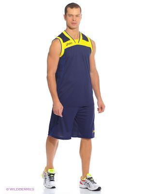 Комплект (майка+шорты) SET LAKE ASICS. Цвет: синий, желтый