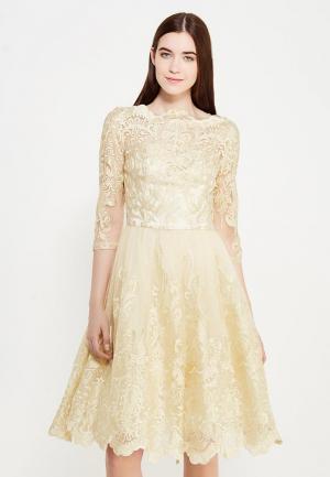 Платье Chi London. Цвет: золотой