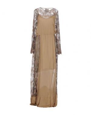 Длинное платье PINK MEMORIES. Цвет: хаки