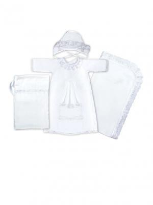 Крестильный набор для ДЕВОЧКИ Сонный гномик. Цвет: белый