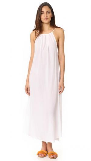 Ремешок с завязками Миконос макси-платье 9seed. Цвет: белый