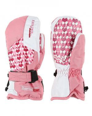 Лыжные рукавицы  Junior level. Цвет: розовый