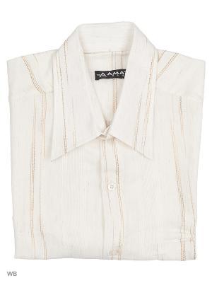 Рубашка AMATO. Цвет: кремовый