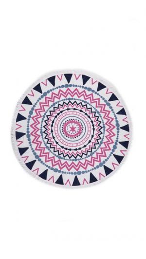 Круглое пляжное полотенце Stardial Soleil. Цвет: белый/розовый/синий
