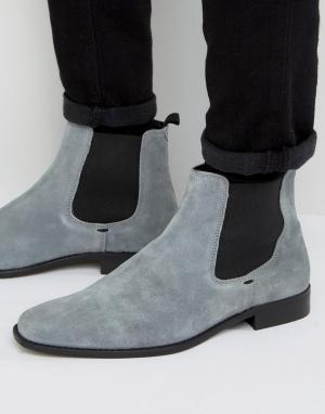 Dune Серые замшевые ботинки челси Marky. Цвет: серый