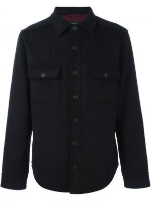 Классическая рубашка Saturdays Surf Nyc. Цвет: чёрный