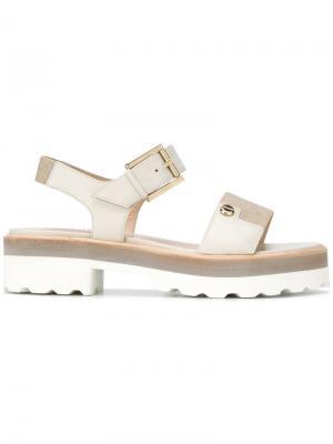 Buckled sandals Fratelli Rossetti. Цвет: телесный
