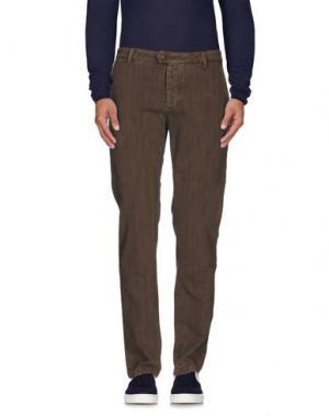 Джинсовые брюки TELERIA ZED. Цвет: хаки