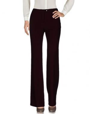 Повседневные брюки LIST. Цвет: баклажанный