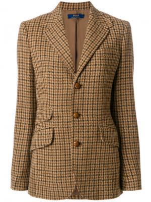 Асимметричный однобортный блейзер Polo Ralph Lauren. Цвет: коричневый