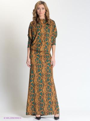 Платье МадаМ Т. Цвет: коричневый, морская волна
