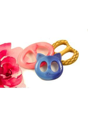 Пряжка Волшебная пуговица для шейного платка madam Пряжкина. Цвет: серо-голубой, золотистый, светло-коралловый