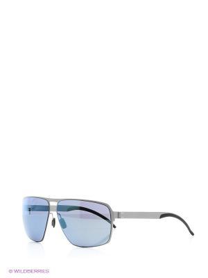 Очки Mercedes Benz. Цвет: голубой, серебристый