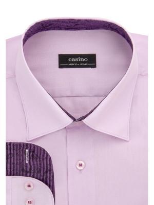 Рубашка CASINO. Цвет: сиреневый