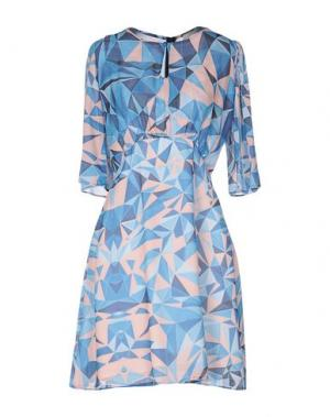 Короткое платье H2O ITALIA. Цвет: лазурный
