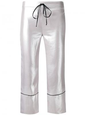 High shine cropped pants  LAutre Chose L'Autre. Цвет: серый